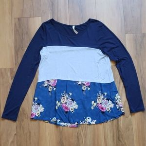 Boutique long sleeve tunic shirt